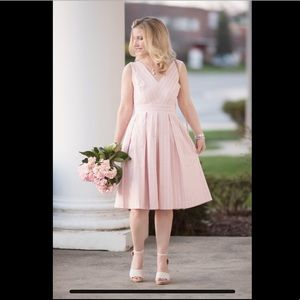 Gal Meets Glam Collection Pink Bow Back Dress